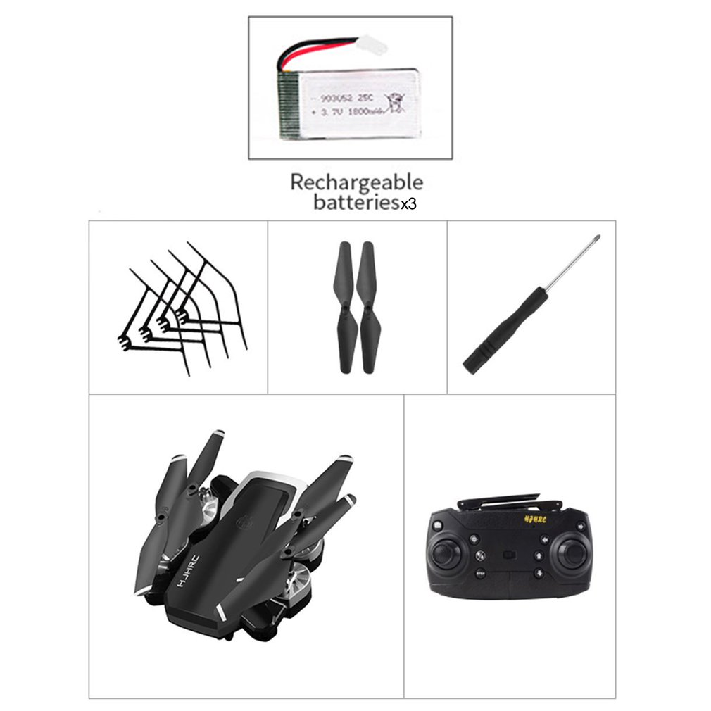 HJ28-1 Foldable RC Drone 4 Channels Wifi FPV Altitude Hold Gesture Photo/Video RC Quadcopter Drone With 3PCS BatteriesHJ28-1 Foldable RC Drone 4 Channels Wifi FPV Altitude Hold Gesture Photo/Video RC Quadcopter Drone With 3PCS Batteries