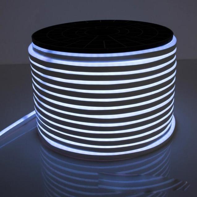 50m/lot 8*16mm LED Neon Strip DC24V 12V AC110V 120LED/M 2835 Flexible Neon LED Light Outdoor Decorative Strip Christmas Lighting