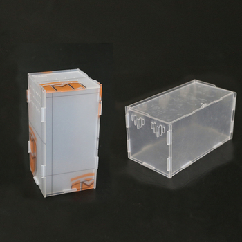 Crystal Acrylic pet cage,reptile,amphibian,insect, small animal habitat feeding box,10*10*20 cm 1