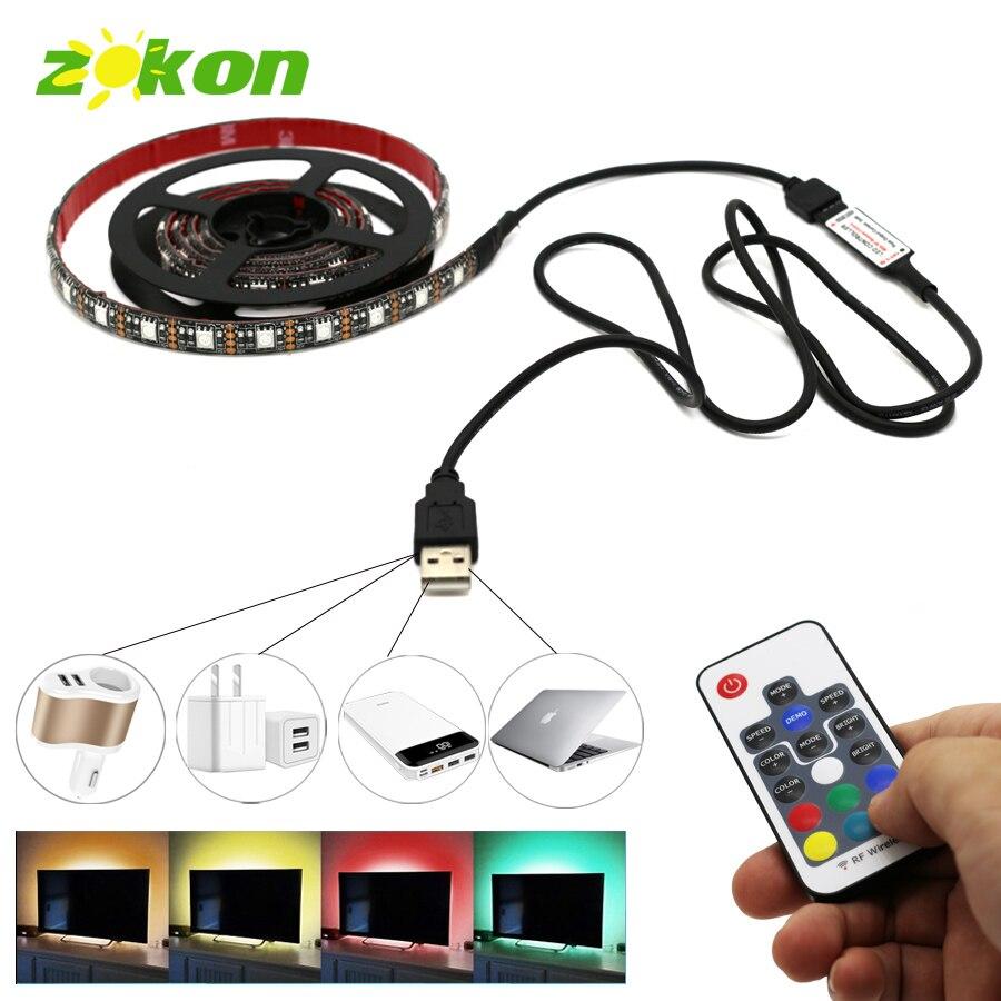 TV DC5V 5050 RGB Led Strip Licht USB Backlight Streep Verlichting met - LED-Verlichting