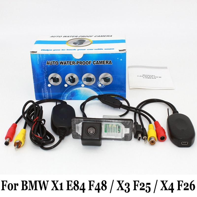 Камера парковки автомобиля для BMW X1 E84 F48 / X3 F25 / X4 F26 / RCA AUX Проводная или беспроводная / HD CCD камера заднего вида