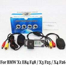 Стоянка для автомобилей Камера Для BMW X1 E84 F48/F25 X3/X4 F26/RCA AUX Проводной Или Беспроводной/HD CCD Ночного Видения Камеры Заднего вида
