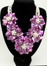 Beautiful Freshwater Pearl Shell Necklace/Earring Set