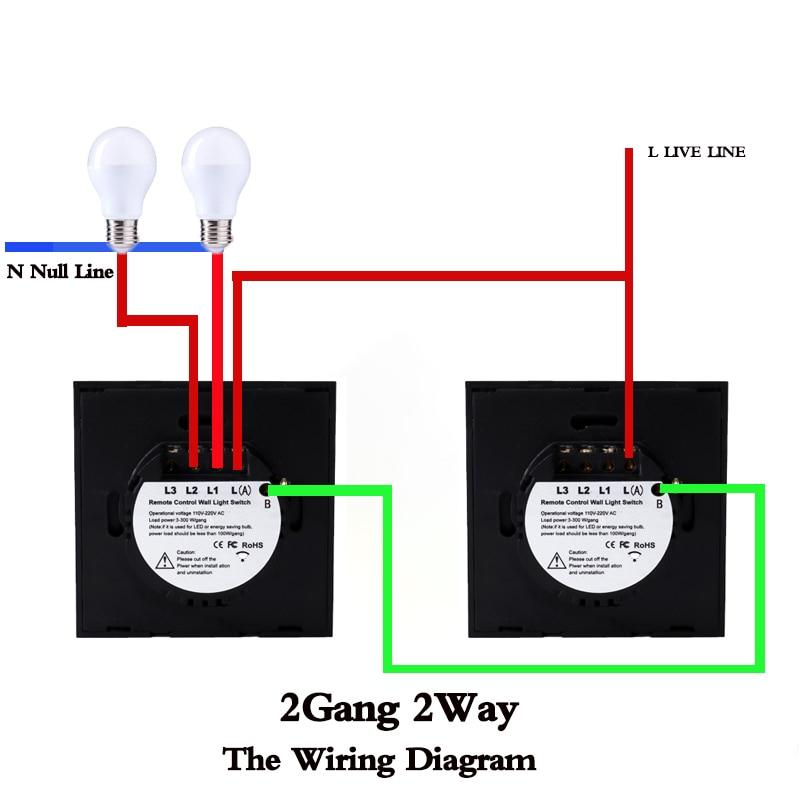 Eu Uk Standard Touch Wall Switch 1 2 3 Gang 2 Way Crystal Glass Panel 220v Single Fireline Rf433 Remote Control Light Switch Switches Aliexpress