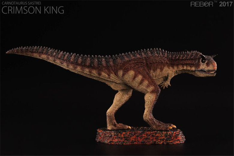 REBOR Carnotaurus Sastrei Crimson King PAINTED PVC 1/35 Dinosaur Museum Class Model