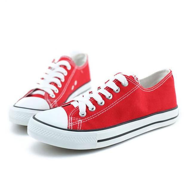 Más el tamaño 41 42 43 mujeres de la lona de los zapatos bajo-top zapatos planos ocasionales zapatillas al aire libre zapatos alpargatas chaussure femme XK081203