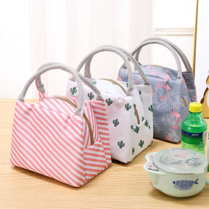 New Fresh Insulation Cold Bales Thermal Oxford Lunch Bag Waterproof Convenient Leisure Bag Cute Flamingo Cuctas Tote 1PC