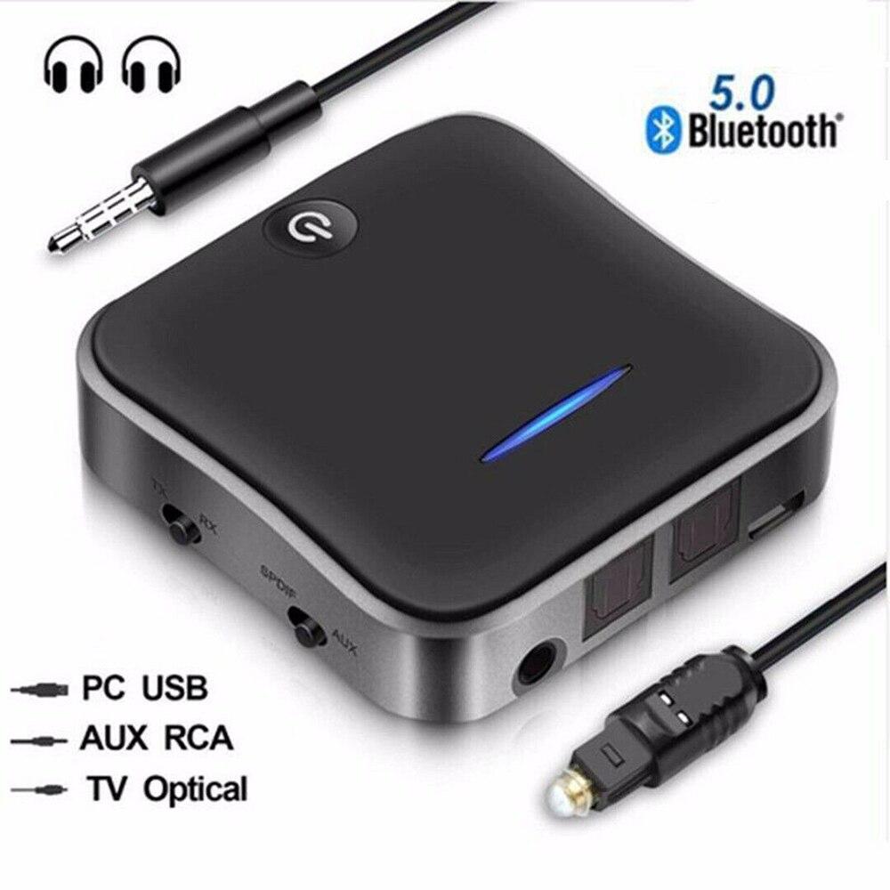 2in1 Bluetooth 5.0 émetteur récepteur HD Audio adaptateur optique sans fil HD pour TV PC 3.5mm numérique optique Toslink câble Audio