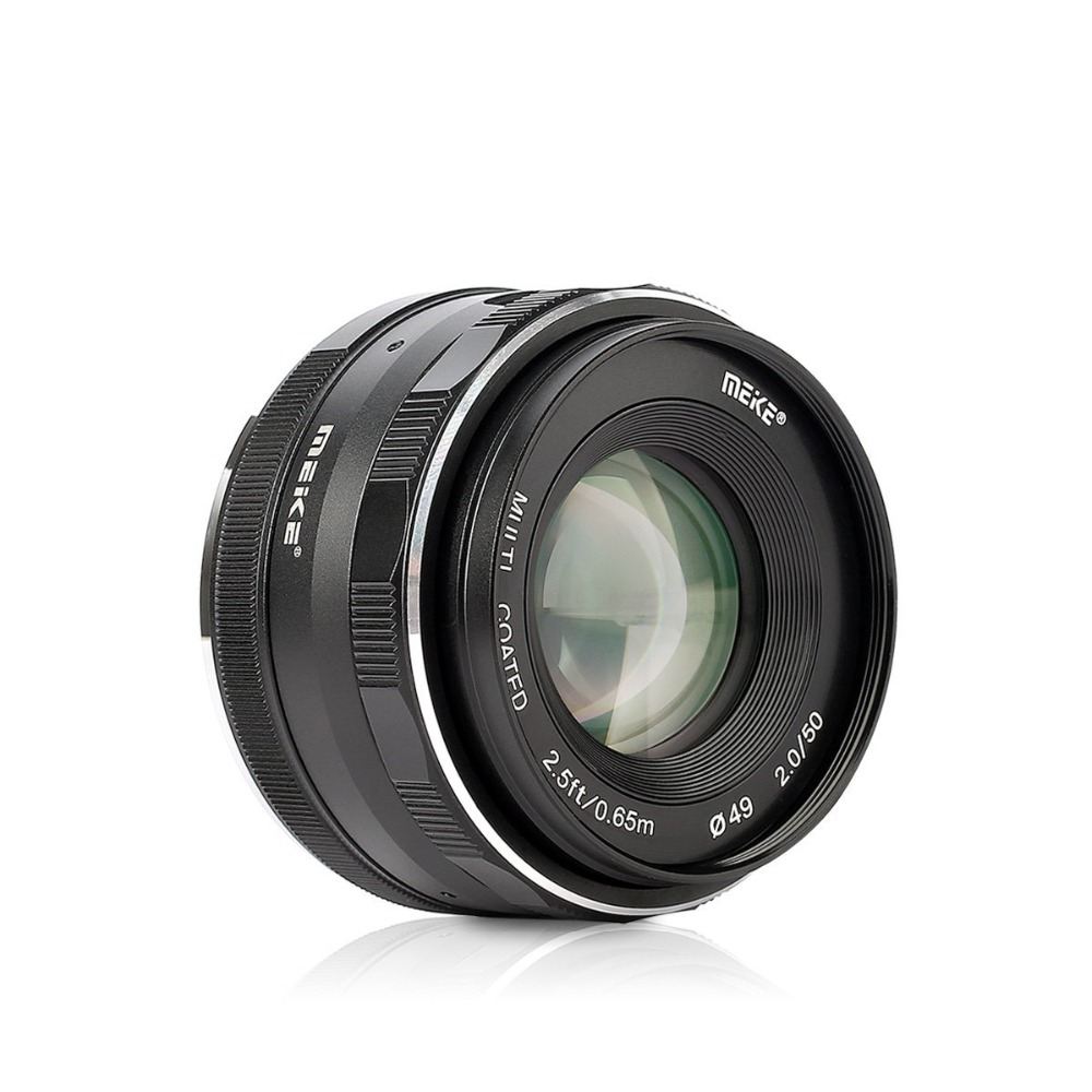Meike MK-50mm F/2.0 Large Aperture Fixed Manual Focus Lens work for APS-C Nikon J1/J2/J3/J4/J5 V1/V2/v3/V4 cameras meike mk 4 3 50 2 0 50mm f 2 0 large aperture manual focus lens aps c for 4 3 system mirrorless cameras for olympus panasonic