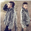 Men'S Short Large Size Mink Fur Coat Winter Silver Stand Collar Rabbit Fur Jacket Warm Slim Cotton Jacket Casaco Masculino S2484
