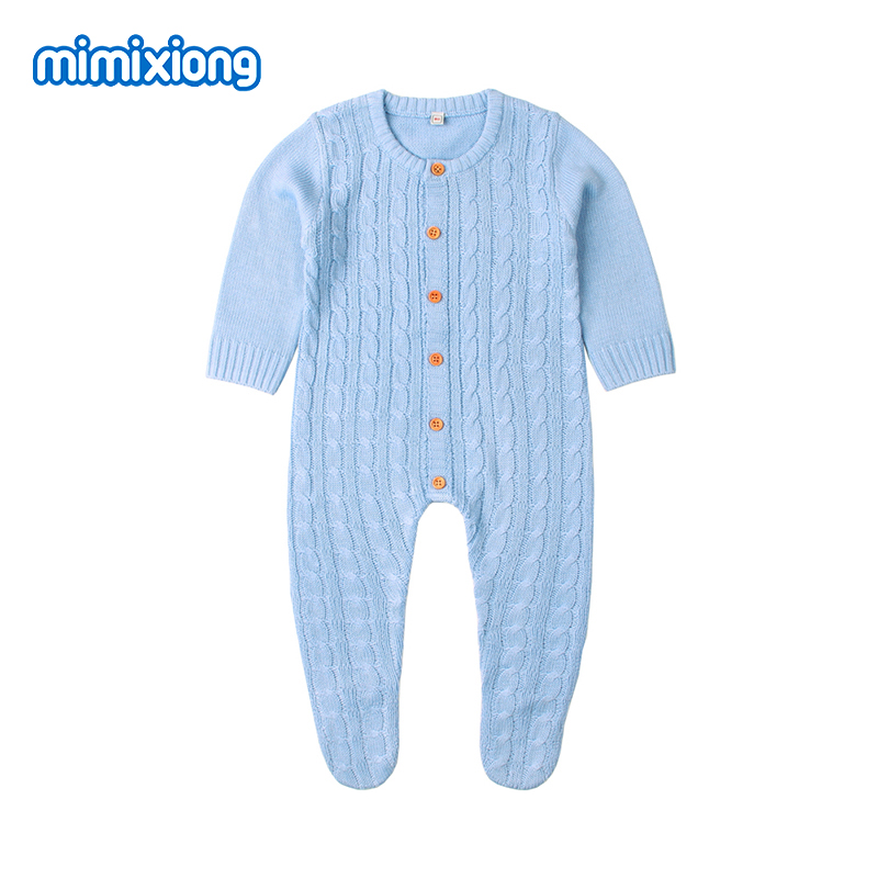 цена на Newborn Baby Footie Spring Thin Toddler Boys Jumpsuit Outfits Summer Hollow Out Little Girls Overalls Long Sleeve Kids Playsuits