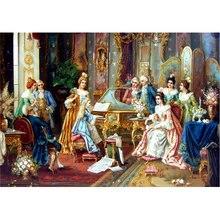Новая алмазная живопись любителей музыки, полный Алмазный Куб, картина, алмазные стразы, мозаичная живопись, народный декор, подарок