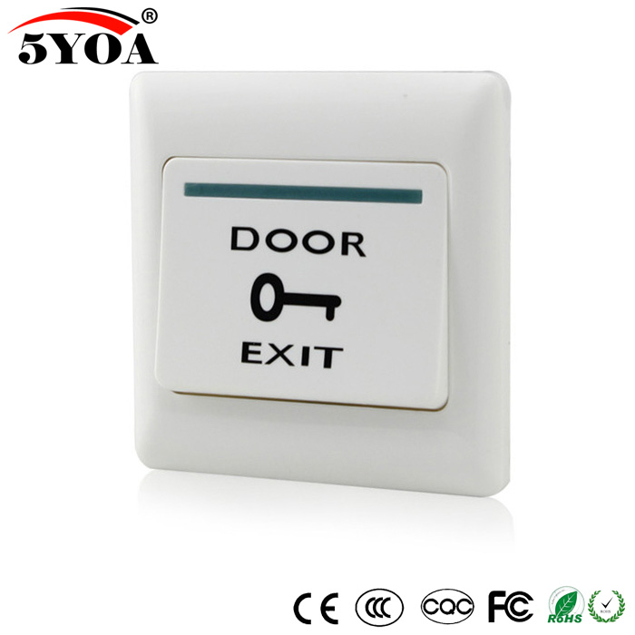 5YOA Door Exit Button Release Push Switch For Access Control Systemc Electronic Door Lock NO COM Lock Sensor Switch Access Push