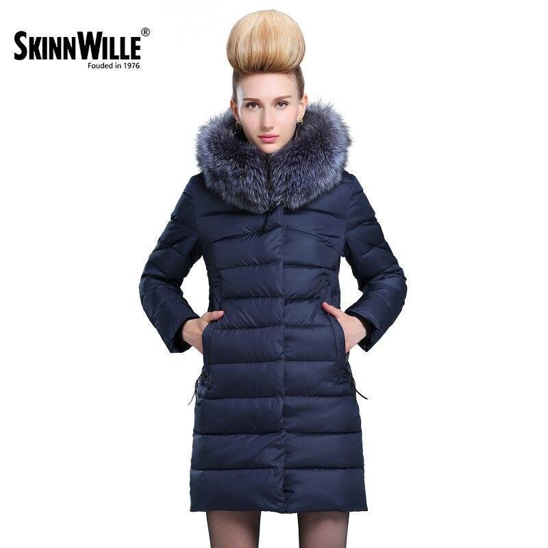 Skinnwille 2017 Jacket Women's Winter Coat Women's Winter Jacket With Genuine Women's Coat Women's Winter Polyester