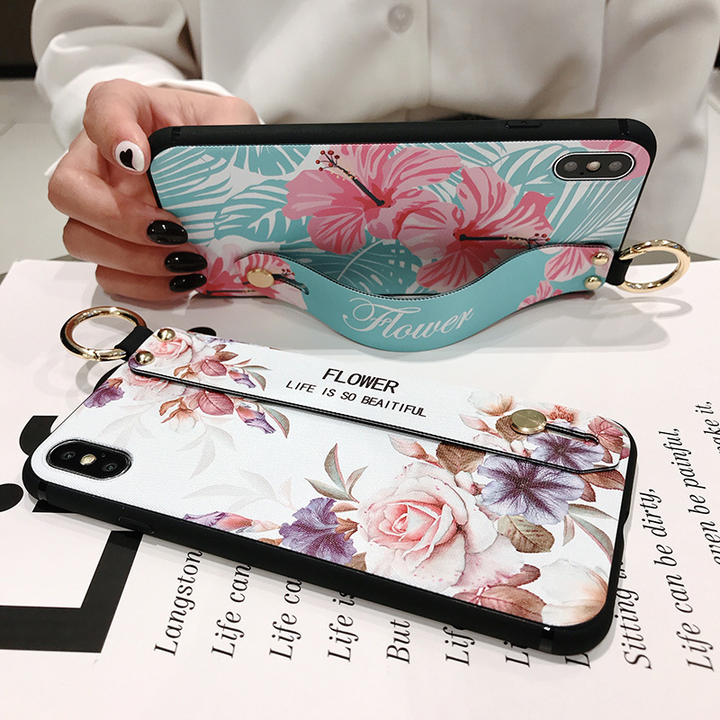Wrist Strap Case For Samsung Galaxy A750 A20 A30 A40 A60 M10 S8 S9 S20 ultra S10 plus Note 8 9 10 Plus Phone support Holder Case