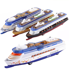 Diecast Star Cruise Boat 1:32 Luxury Ship Model Collection Pull Back Vehicle with Sound&Light Hobby Toy Gift for Kids Children