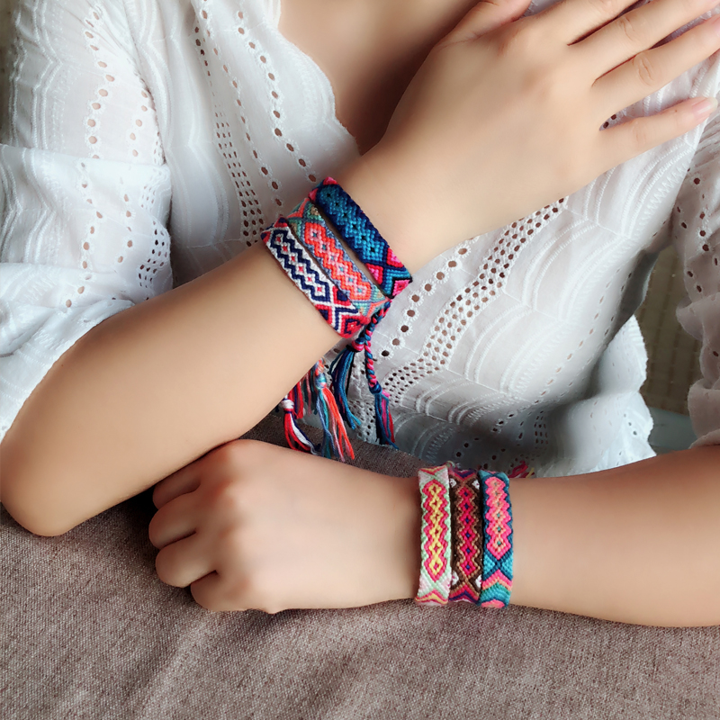 Cotton Braided Friendship Bracelet for Women