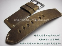 22mm 23mm 24mm high quality Design Special Classical Genuine Leather Watchband watch accessories Men Straps For brand watches