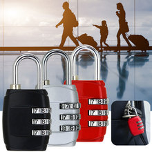 3 Dial Digit Password Combination Padlock Suitcase Luggage Metal Code Lock Mini Coded Keyed Anti-Theft Locks Cijfersloten rarelock 5 letters code combination password lock door box gym locks suitcase luggage bicycle locks a