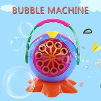 Portable Automatic Bubble Machine Maker Bubble Blowing Soap Bubbles for Outdoor Indoor Party Bubbles Maker Blower Toy Gift Kids