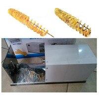 Aço inoxidável comercial elétrica máquina batata frita vegetal slicer espiral cortador de batata torcida