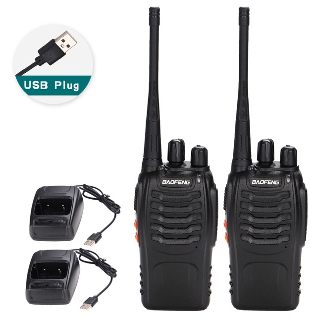2 قطعة Baofeng BF 888S لاسلكي تخاطب USB محول للشحن راديو محمول CB راديو UHF 888S Comunicador الإرسال والاستقبال 2 سماعة
