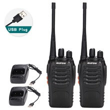 2 шт. Baofeng BF 888S портативная рация USB Зарядка адаптер портативное радио CB радио UHF 888S Comunicador приемопередатчик + 2 наушников