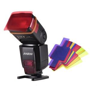 Image 2 - Andoer AD560 IV Pro 2.4G Kablosuz on kamera Slave Hız lite Flaş Işığı GN50 Flaş Tetik Renk Filtreleri dağınık Sıcak Ayakkabı Dağı