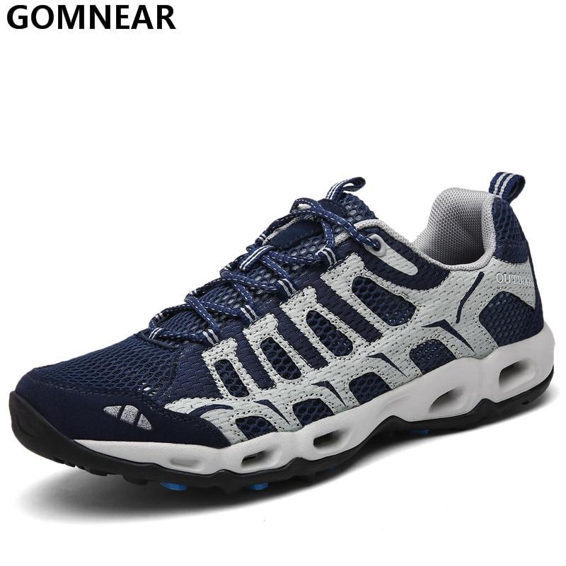 GOMNEAR Mænds Sport Løbesko Breathable Jogging Outdoor Sneakers Mænds Antiskid Turisme Athletic Zapatillas Trekking Hombre