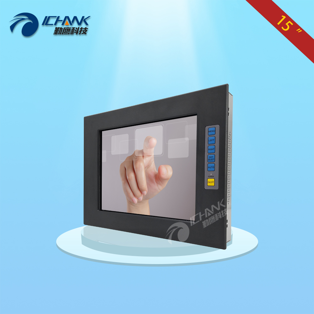 15 inches embedded touch display/15 aviation power connector Touch Monitor/15  industrial monitor
