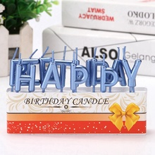 Happy Birthday Letters Unique Candle Decoration Supplies Household Small Party Cake decorations fluorescent