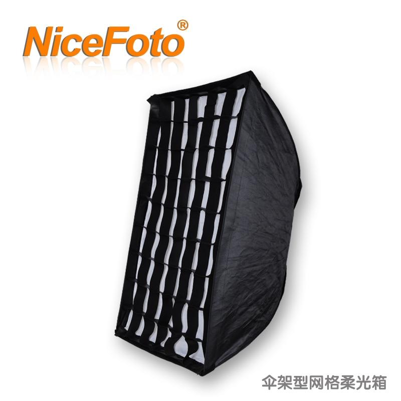 NiceFoto umbrella stand mesh honeycomb mesh softbox outdoor flash light general ks-70x100cm