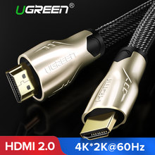 Ugreen HDMI Cable HDMI to HDMI 2.0 HDR 4K for Splitter Extender Adapter Nintend Switch PS4 Xiaomi TV Box 5m 10m Cable HDMI(China)