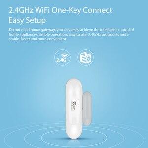Image 3 - 1/2/3/4 шт./лот NEO COOLCAM Wi Fi умный датчик двери окна Сенсор приложение уведомления безопасная домашняя дверь/оконный датчик