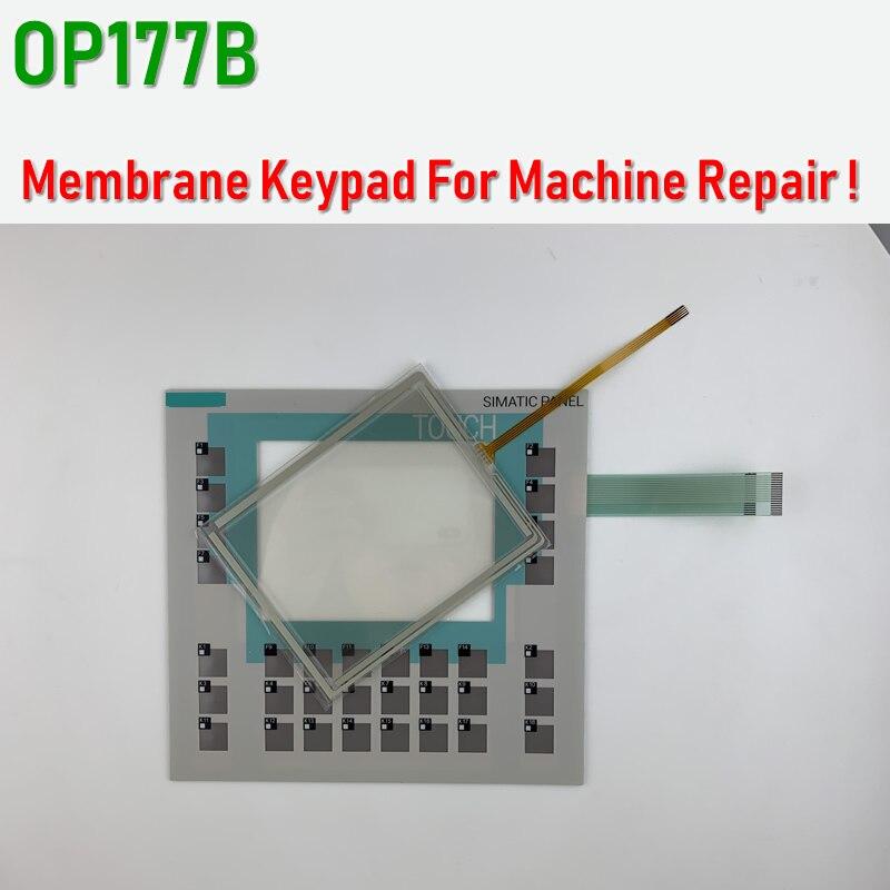 OP177B 6AV6 Keypad teclado de membrana para reparación de Panel SIMATIC HMI ~ hágalo usted mismo, tenga en stock Wallpad L6, toma de corriente blanca cuádruple de 4 vías, enchufe alemán de la UE, toma de corriente Schuko, toma de pared con Panel de vidrio templado de 344x86mm, 4 puertos, 4 entradas