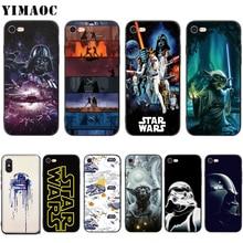 db29b31c193 YIMAOC Star Wars Darth Vader Yoda el despertar de la fuerza-funda de silicona  suave para iPhone XS Max XR X 8 7 6 6 S Plus 5 5S .