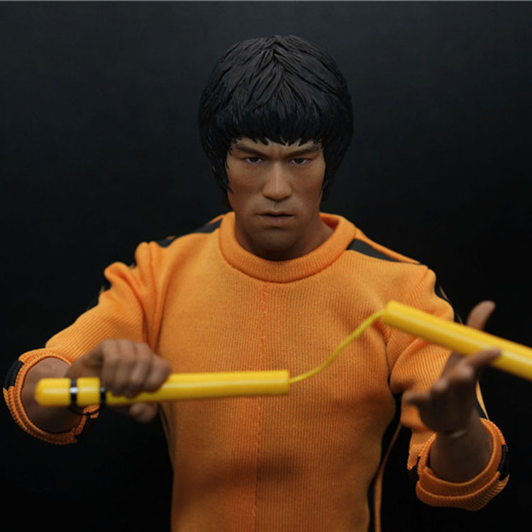 Collectible 1/6 Scale Bruce Lee Head Sculpt Game of Death KungFu Star Bruce Lee Head Carving Model for 12 Action Figure Toys 1 6 scale soldier enter the dragon bruce lee opponent mr han shi jian clothes set free head carving