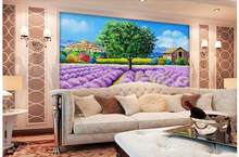 3d wallpaper custom mural non-woven picture Lilac garden bedroom decoration painting photo wallpaper for walls 3 d(China)