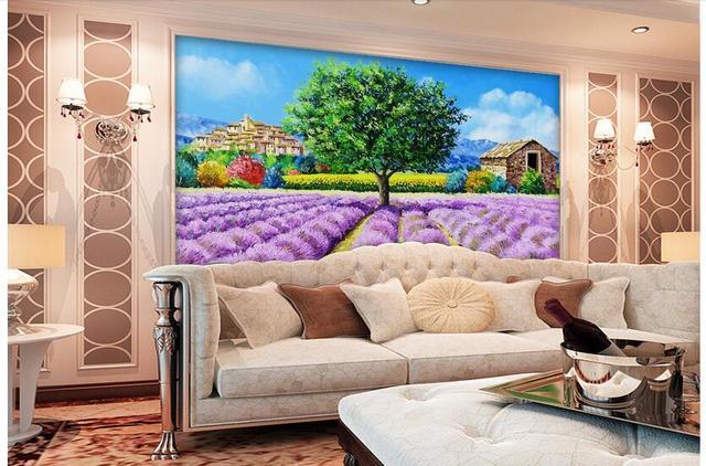 US $15.77 45% di SCONTO 3d wallpaper murale personalizzato non tessuto foto  Lilla giardino decorazione camera da letto pittura foto wallpaper per ...