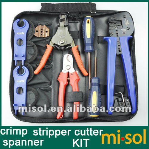kit of solar pv crimper for mc3 mc4 connector crimping connector crimping tool cable cutter. Black Bedroom Furniture Sets. Home Design Ideas