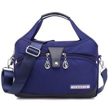 Bolsa de nylon feminina, bolsa de mensageiro, à prova dágua, de ombro, de alta qualidade, para adolescentes