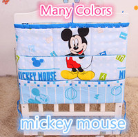 Promotion Kitty Mickey 62 52 Baby Crib Pocket Storage Bag Baby Dirty Clothes Bag