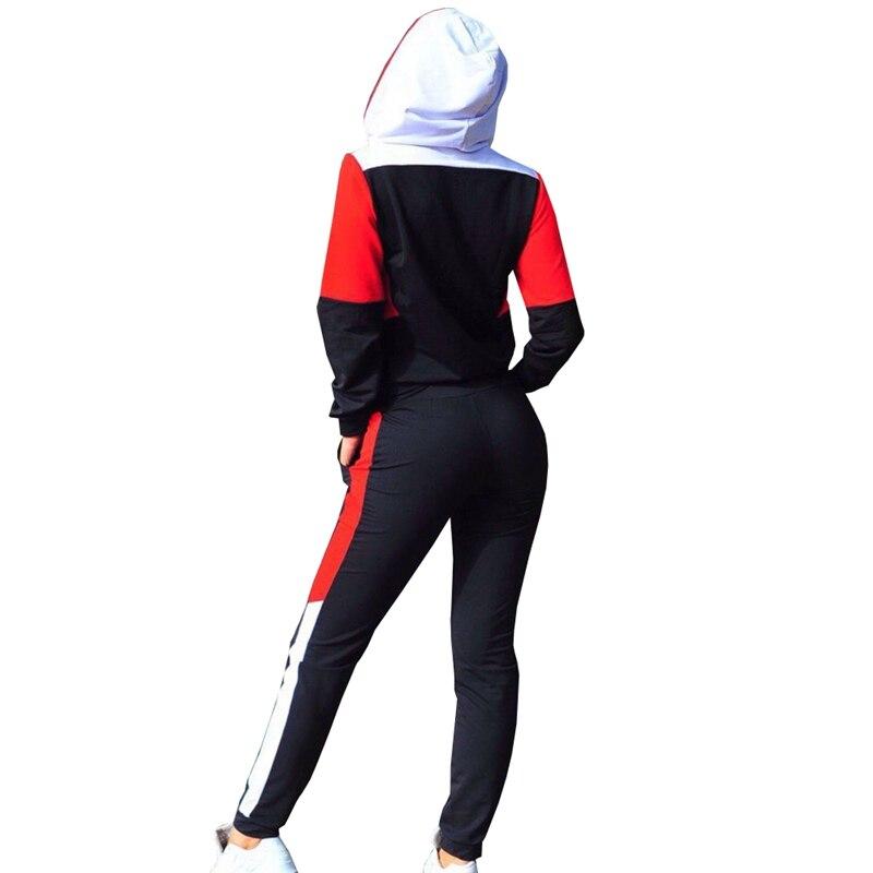 67c2962be ZOGAA Mujer Plus tamaño chándal de dos piezas conjunto Casual traje de  deporte de mujer 2 unidades conjuntos de ropa deportiva 2018 cremallera ...