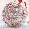 Новый 2016 Великолепная Lvory Свадебный Букет Брошь Свадебный букет Искусственный Цветок Розы Невесты Букеты Свадебные Аксессуары