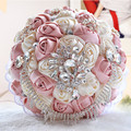 New 2016 Gorgeous Wedding Bouquet Brooch Bridal bouquet Lvory Artificial Rose Flower Bride Bouquets Wedding Accessories