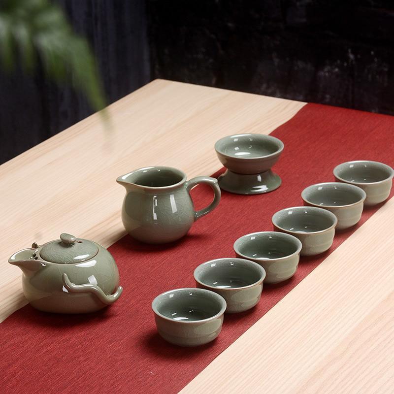 Thé chinois Kung Fu Set céramique thé tasse théière 9 pièces thé costume chinois thé cérémonie Teaware ensembles cadeau pour ami