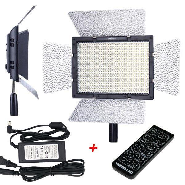 Prix pour Yongnuo yn-600 5500 k pro led lumière vidéo pour canon nikon appareil photo caméscope w/adaptateur secteur entrée