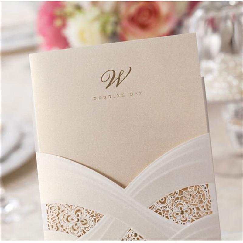 Hot Sell 1Pcs Casamento Personalized Laser Cut Wedding Invitations ...