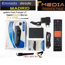 freesat V7 5pcs Freesat V7s HD with USB Wifi DVB-S2 HD Satellite TV Receiver Support PowerVu Biss Key gtmedia v7s