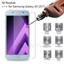 10 Pcs/Lot 2.5D 0.26mm Premium Tempered Glass For Samsung Galaxy A5 (2017) Screen Protector protective film 2017